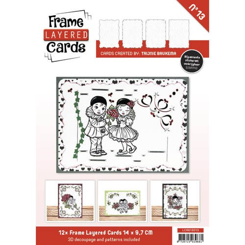 Frame Layered Cards 13 - A6 - HOBBYDOTS