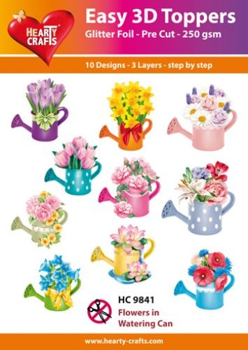 HC: Easy 3D; Flowers in Watering Can