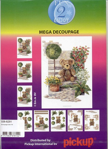 Fun2enjoy: Mega Decoupage; Bear