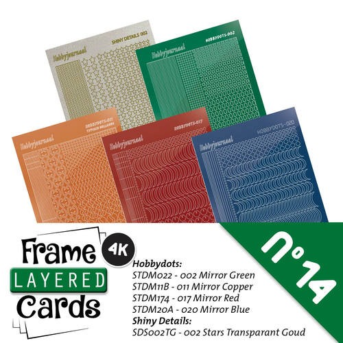 Frame Layered Cards 14; Stickerset