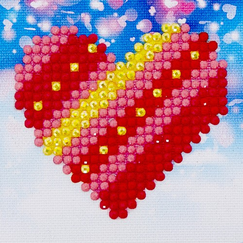 Diamond Dotz: 7 x 7 cm; Patch Work Heart