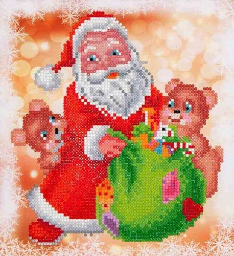 Diamond Dotz: 23 x 25cm; Santa and Teddies