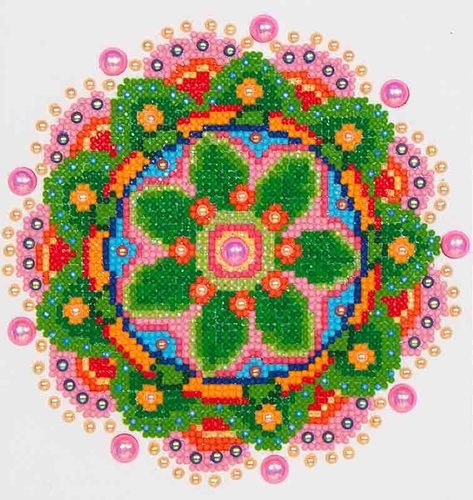Diamond Dotz: 20,3 x 25,4cm; Flower mandala