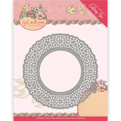 Yvonne Creations: Get Well Soon; Die, Flower Doily