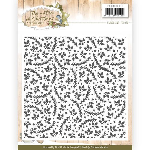 Precious Marieke: The Nature of Christmas; Embossing Folder