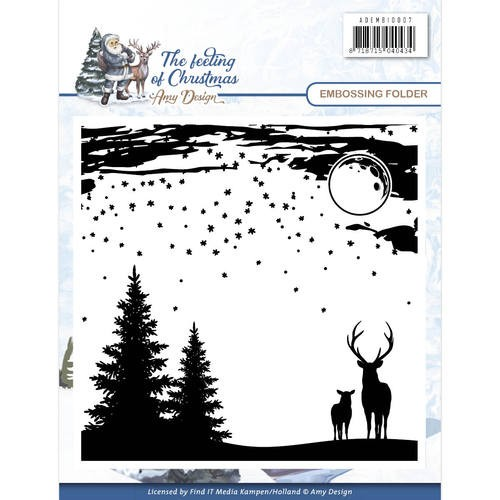 Amy Design: The Feeling of Christmas; Embossing Folder
