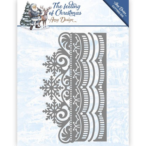 Amy Design: The Feeling of Christmas; Die; Ice Crystal Border