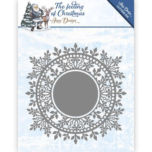 Amy Design: The Feeling of Christmas; Die; Ice Crystal Circle