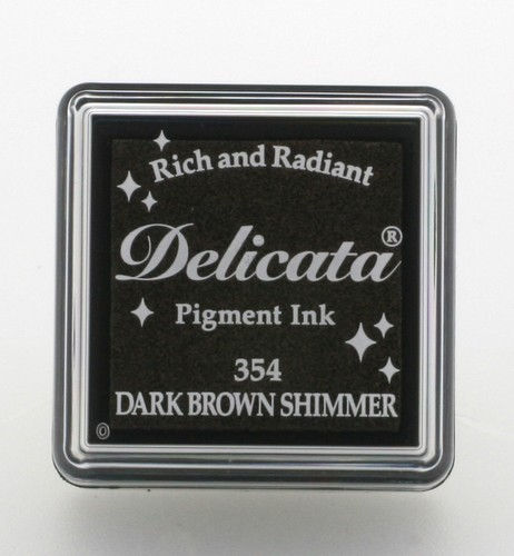 Delicata small Inkpads: Dark Brown shimmer