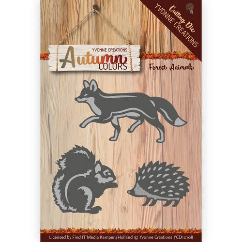 Yvonne Creations - Autumn Colors: Die; Forest Animal