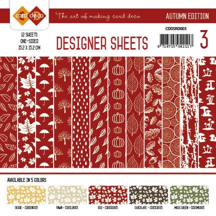 Yvonne Creations - Autumn Colors: Designer Sheets 3; ROOD