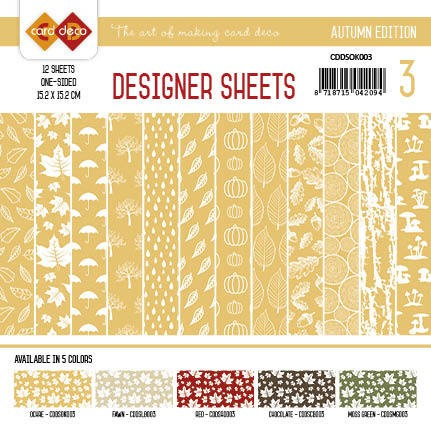Yvonne Creations - Autumn Colors: Designer Sheets 3; OKER
