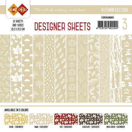 Yvonne Creations - Autumn Colors: Designer Sheets 3; LICHTBRUIN