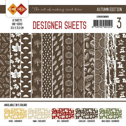 Yvonne Creations - Autumn Colors: Designer Sheets 3; CHOCOLADEBRUIN