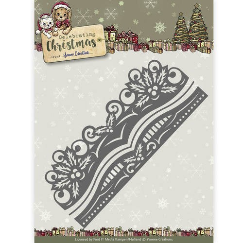 Yvonne Creations - Celebrating Christmas: Die; Holly Border