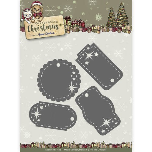 Yvonne Creations - Celebrating Christmas: Die; Star Tags