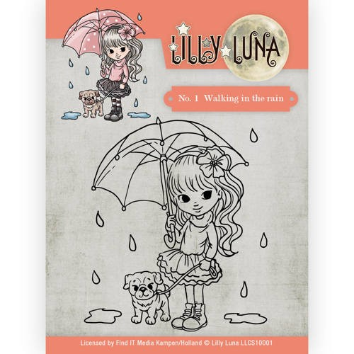 CD: Lilly Luna; Clearstamp - Walking in the rain