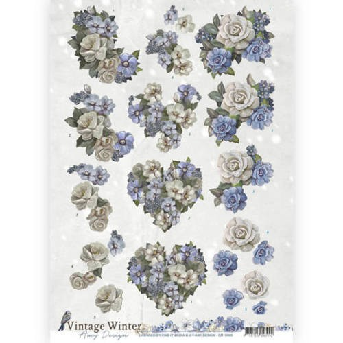 Amy Design: Vintage Winter; Winter Flowers
