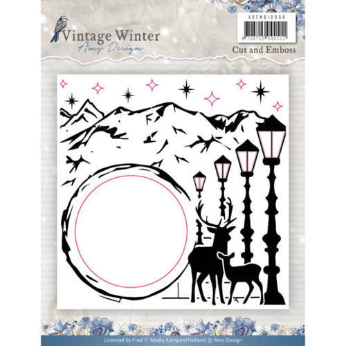Amy Design: Vintage Winter; Cutting and Embossing Folder