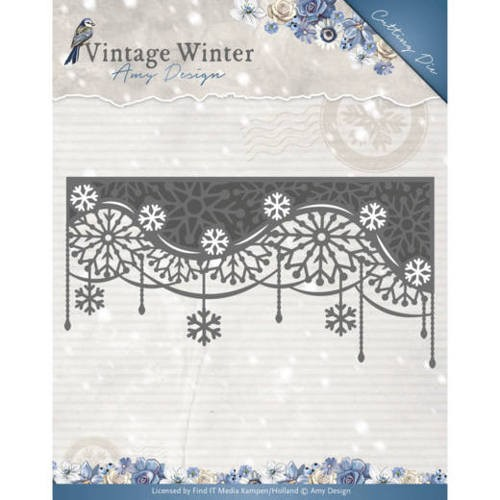 Amy Design: Vintage Winter; Die - Snowflake Swirl Edge
