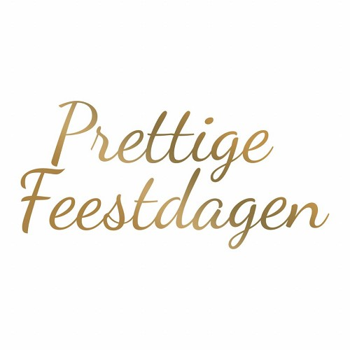 Couture Creations Hotfoil stamp; Prettige Feestdagen 98 x 47 mm