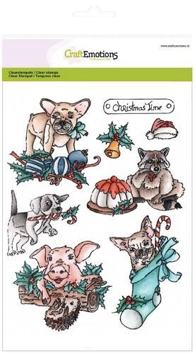 CE: Clearstamp A5; Christmas Pets 1