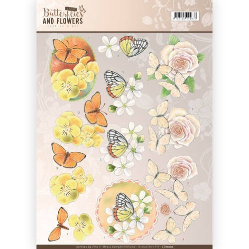 Jeanine`s Art: Classic Butterflies and Fowers; Knipvel - Yellow Flowers