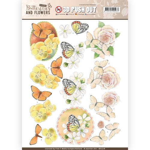 Jeanine`s Art: Classic Butterflies and Fowers; Push Out