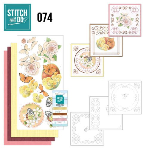 Stitch and Do 74: Vlinders en Bloemen