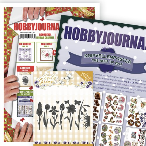 Hobbyjournaal 154 met Poster the best of 2017 en Die 2527.M114