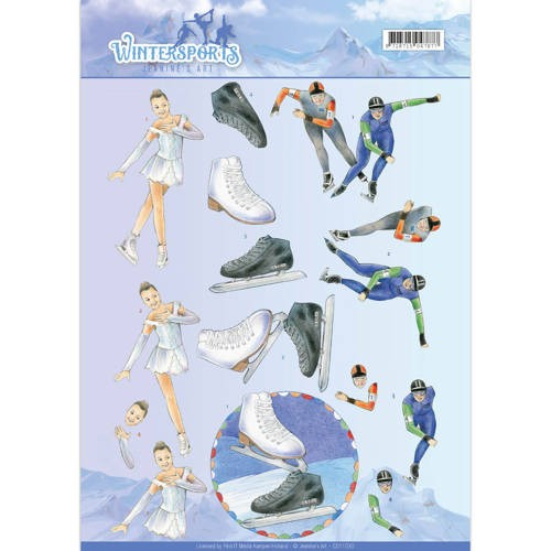 CD: Jeanine`s Art; Wintersports,Knipvel - Ice Skating