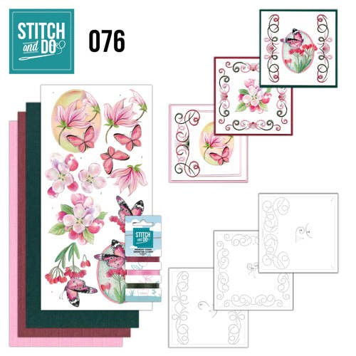 Stitch and Do 76: Pink Flowers