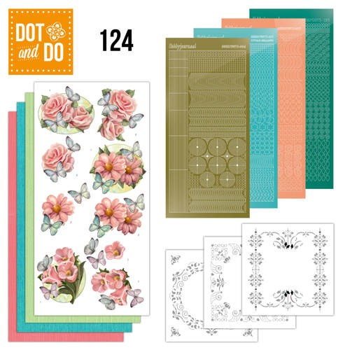 Dot+Do 124: Pink Flowers and Butterflies