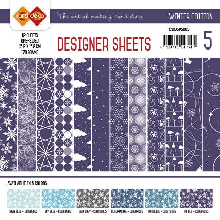 Card Deco - Designer Sheets - Winter Edition - PAARS