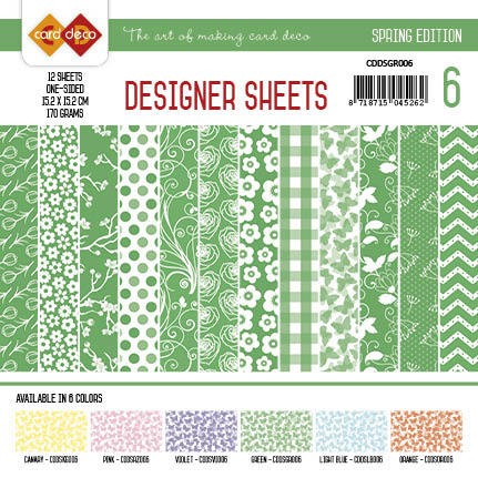 Card Deco - Designer Sheets - Sping Edition - GROEN