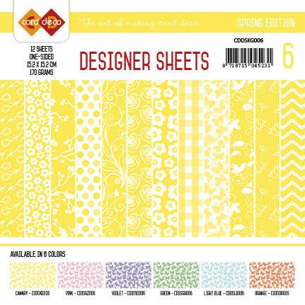 Card Deco - Designer Sheets - Sping Edition - KANARIEGEEL