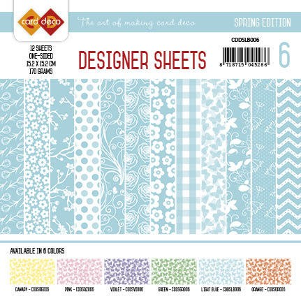 Card Deco - Designer Sheets - Sping Edition - LICHTBLAUW