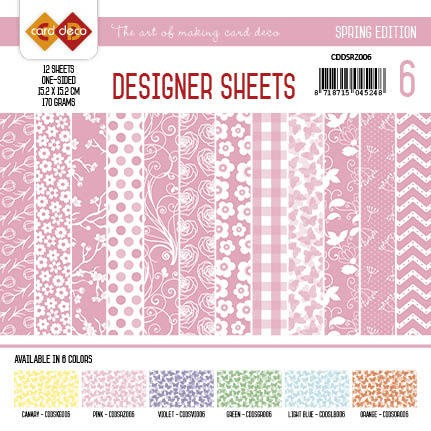 Card Deco - Designer Sheets - Sping Edition - ROZE