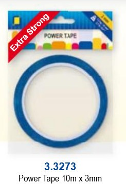 JeJe: POWER tape 3 mm - rol 10 meter