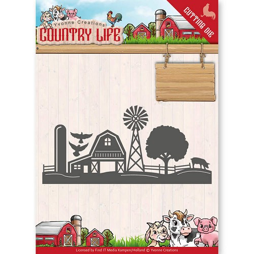 Yvonne Creations: Country Life; Dies - Farm Border