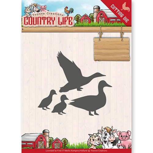 Yvonne Creations: Country Life; Dies - Ducks