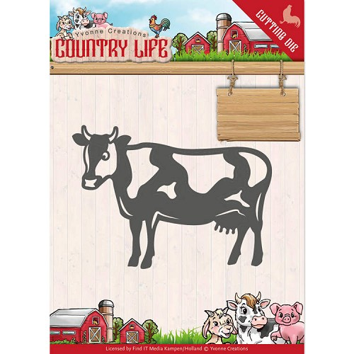 Yvonne Creations: Country Life; Dies - Cow