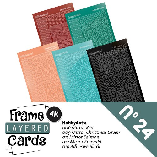 Frame Layered Cards 24; STICKERSET