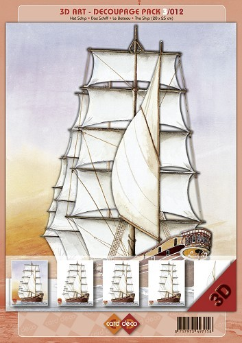 3D decoupage pack: The Ship 20 x 25 cm
