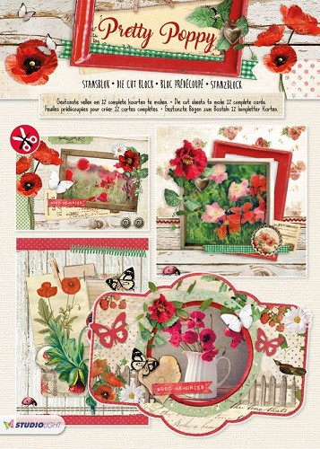 SL: Stansblok A4; Pretty Poppy