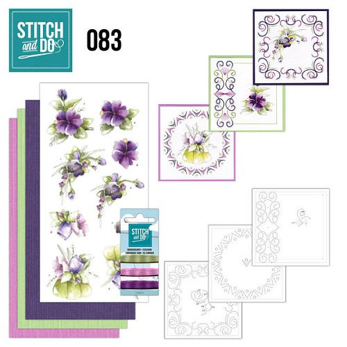 Stitch and Do: 83 - Purple Flowers