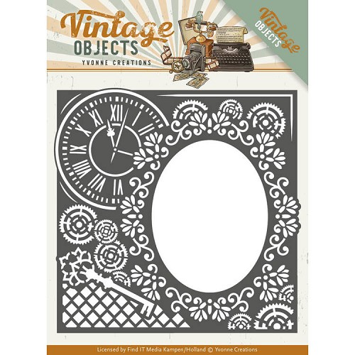 Yvonne Creations: Vintage Objects; Die - Endless Times Frame