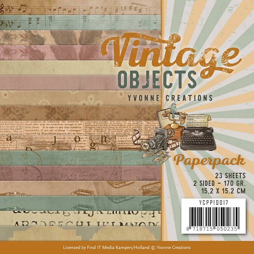 Yvonne Creations: Vintage Objects; Paperpack