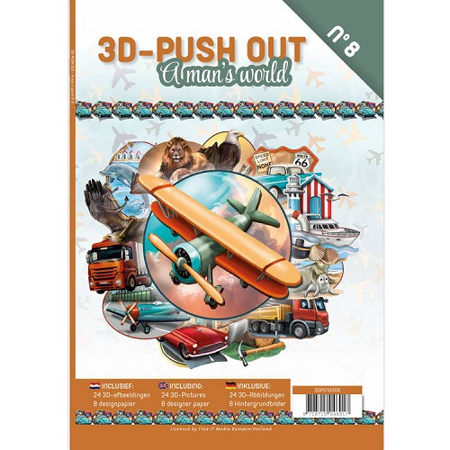 3D Push Out Book: A man`s World