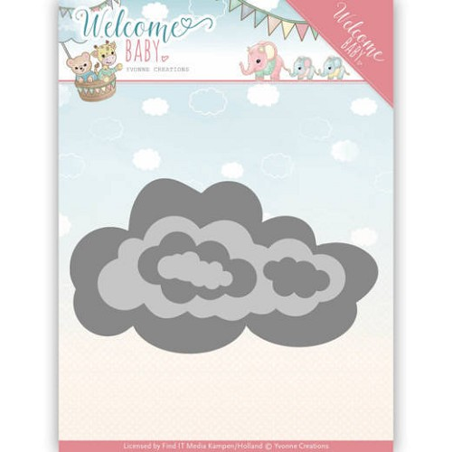 Yvonne Creations: Welcome Baby; Die - Nesting Clouds
